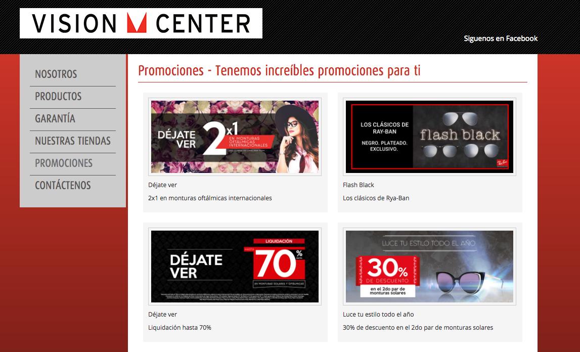 ofertas visión center