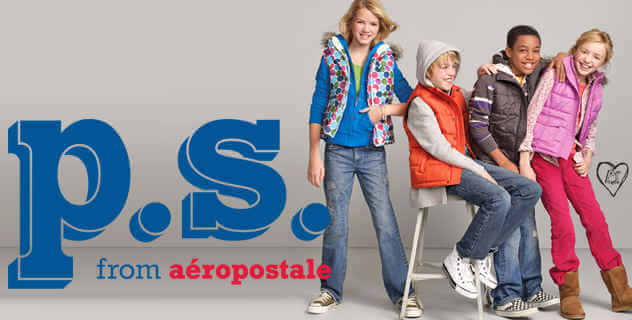 P.S. for Aéropostale para niños con estilo