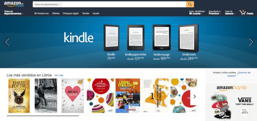 portada de la tienda Amazon