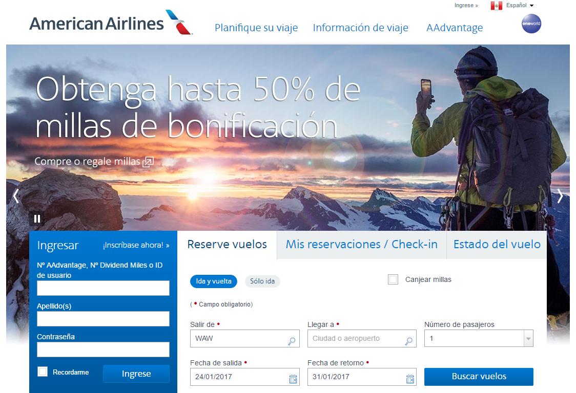 ofertas American Airlines