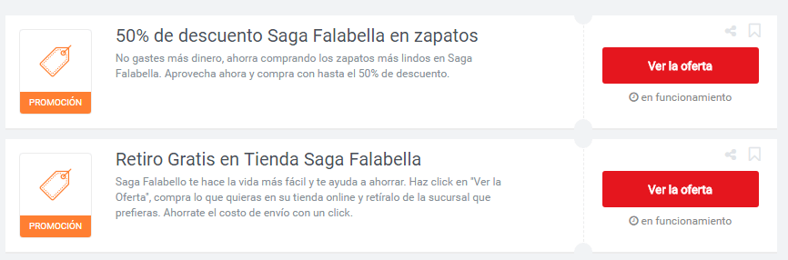 cupones Saga Falabella