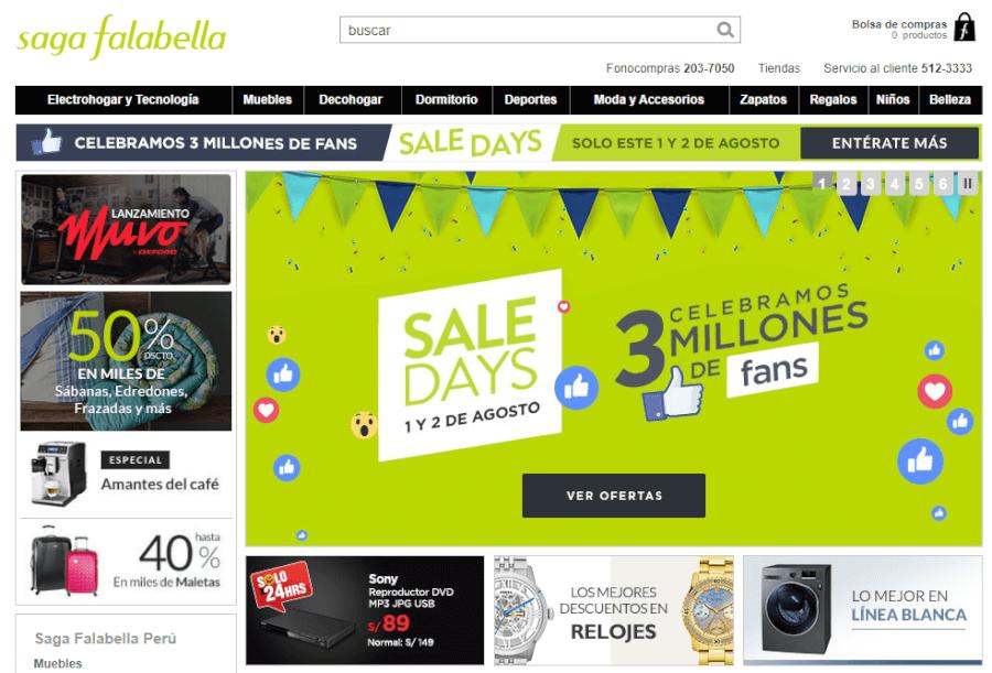 ofertas Saga Falabella