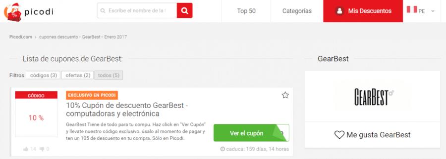 cupones GearBest