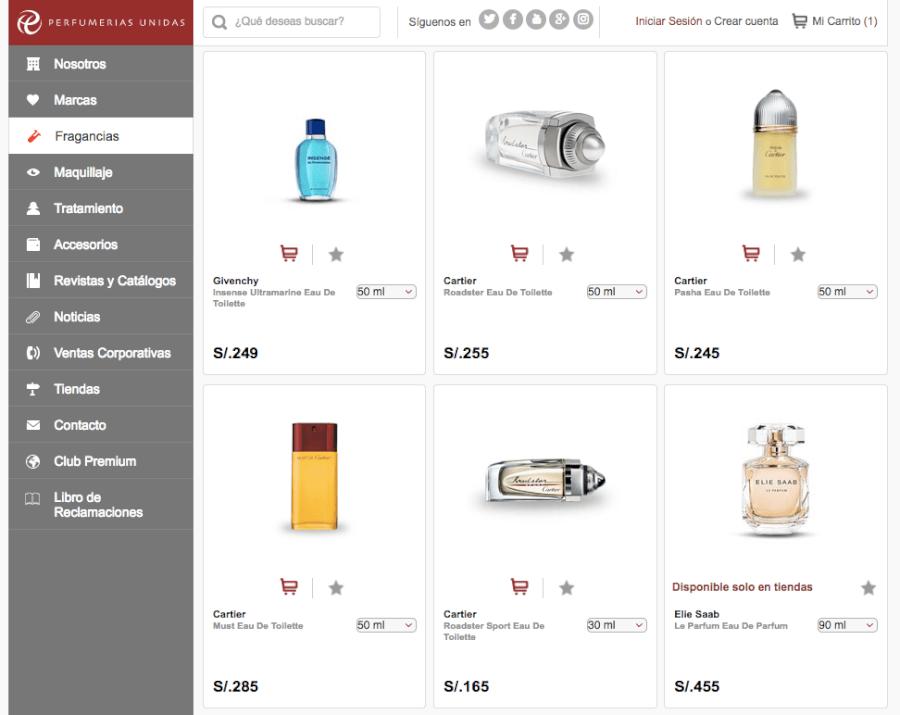ofertas perfumerías unidas