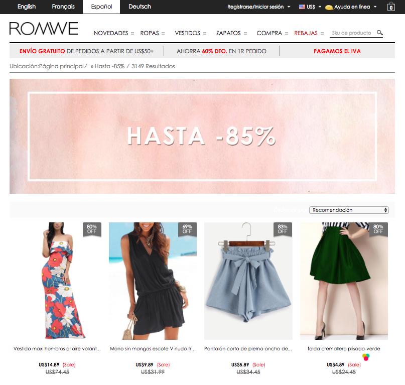 oferta Romwe