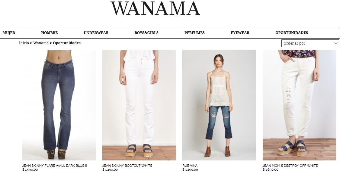 ofertas wanama