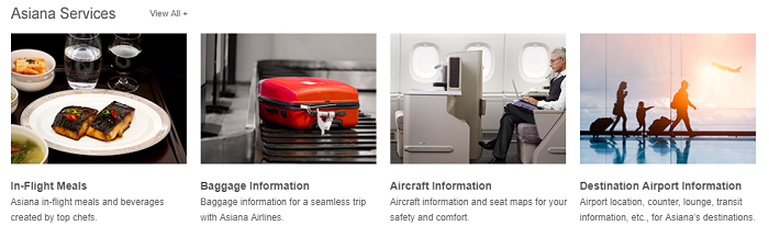Services available at Asiana Airlines