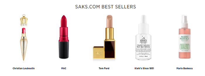 Bestsellers at Saks Fifth Avenue