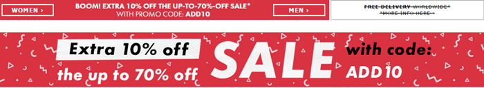 ASOS sale offer