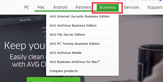 Stay save with AVG
