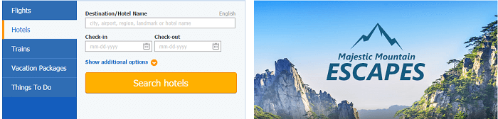 The range of Ctrip services