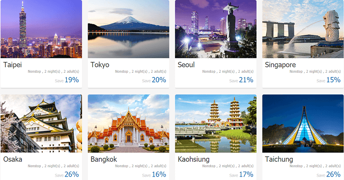 Package holidays available on Ctrip