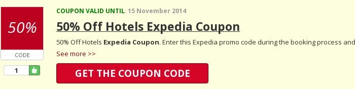 Reveal Expedia coupon code