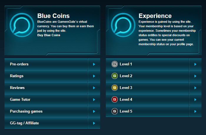 Earn Blue Coins with every purchase