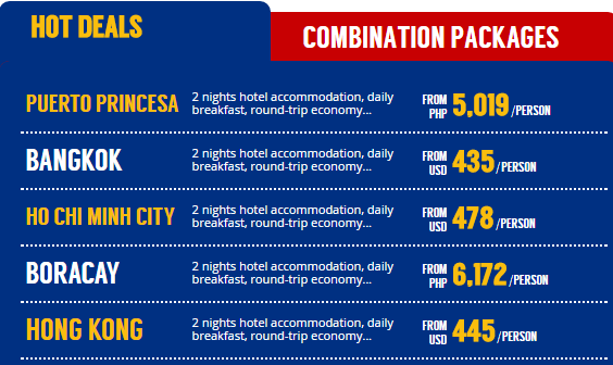 Hottest deals at Philippine Airlines