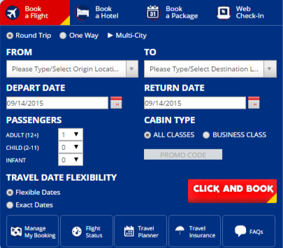 Search for best travel deals at Philippine Airlines
