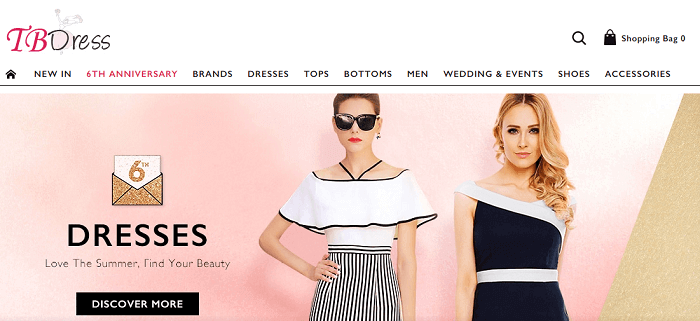 Visit TB Dress website
