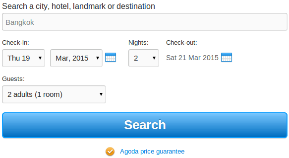 PK Agoda Search for hotel deals