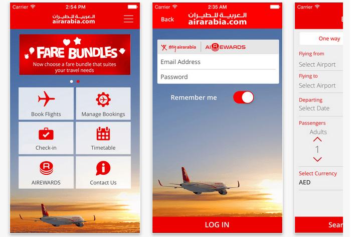 PK Air Arabia mobile app