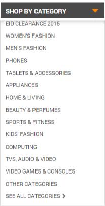 Product genres at Daraz
