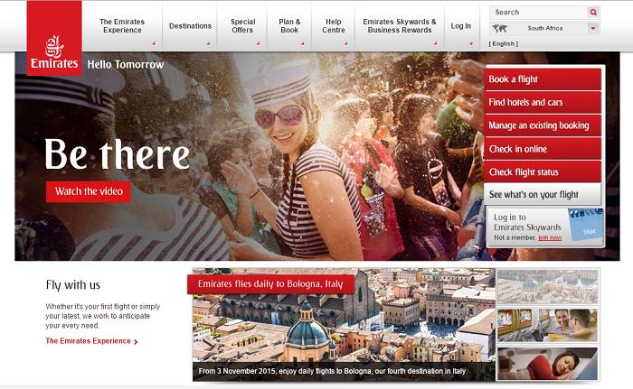 Pakistan Emirates home page