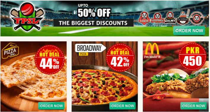 Pizza discounts at Foodpanda