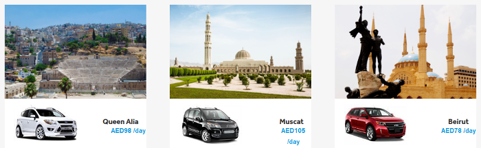 PK Flydubai car hire