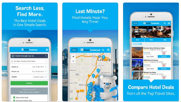 HotelsCombined App; Screenshots