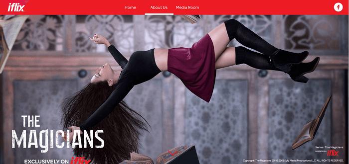 PK iflix homepage