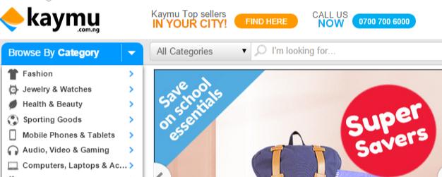 Kaymu shopping categories