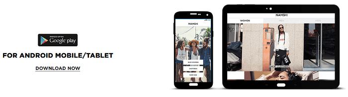 PK Namshi mobile app