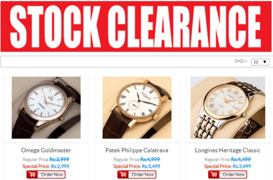 PK Royal Watches Clearance