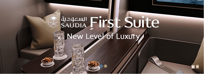 PK Saudia Airlines first suite