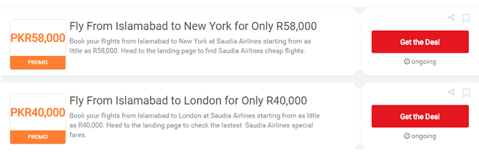 PK Saudia Airlines voucher