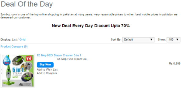 PK Symbios online deal of the day