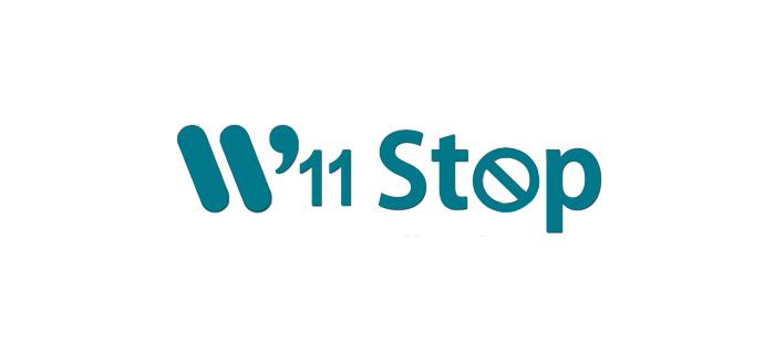 PK W11 Stop logo