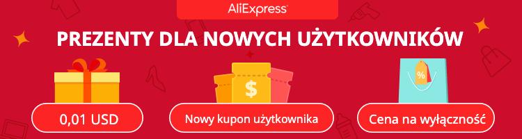 2$ dla nowych użytkowników AliExpress!