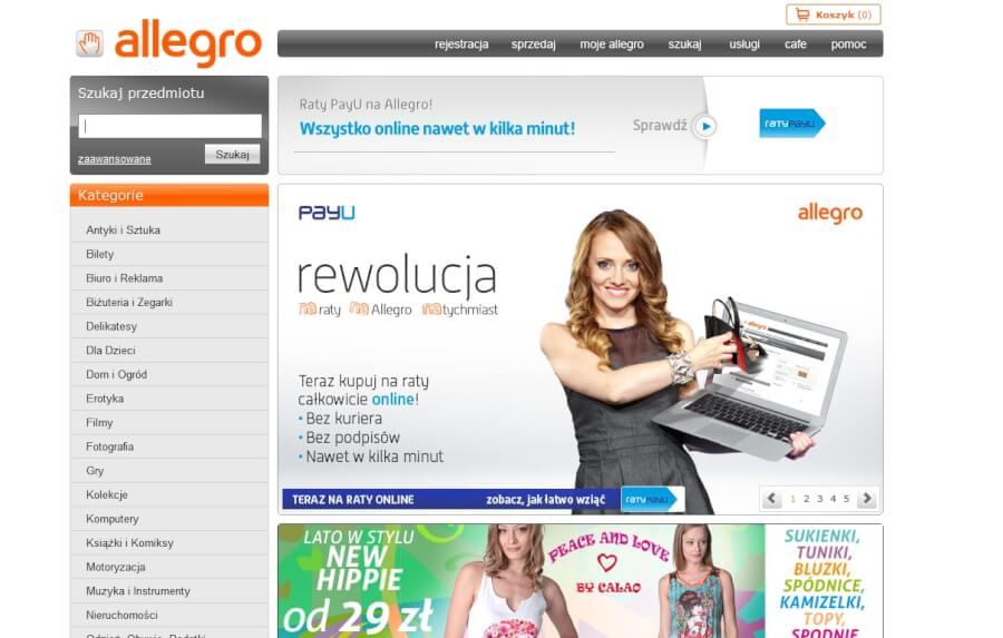 Zakupy na Allegro z kodem rabatowym
