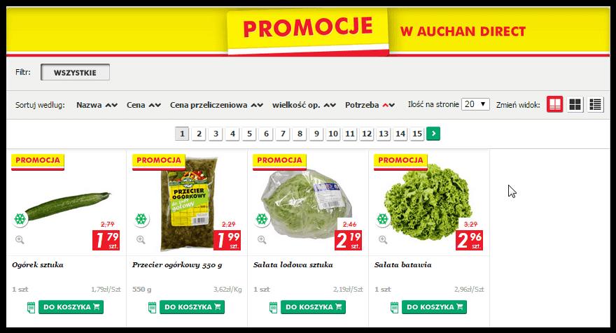 Produkty w promocyjnych cenach