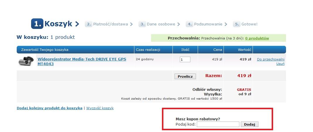 Kody rabatowe dla sklepu Cyfrowe.pl