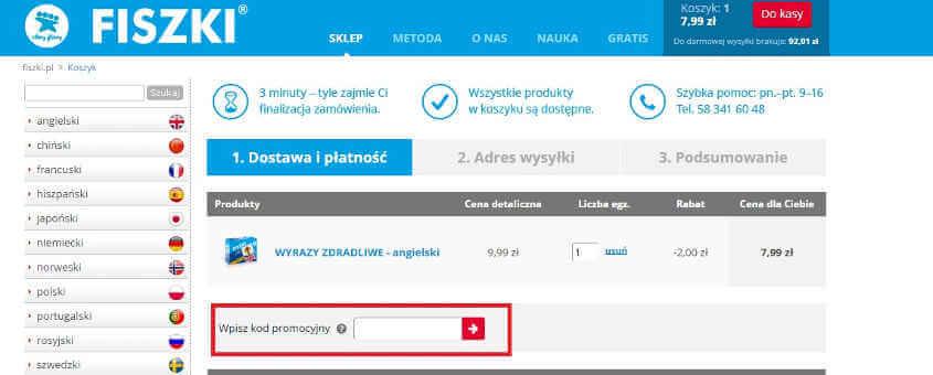 Kody rabatowe do Fiszki.pl