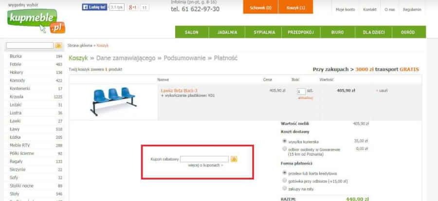 Jak skorzystać z kodu rabatowego w kupmeble.pl