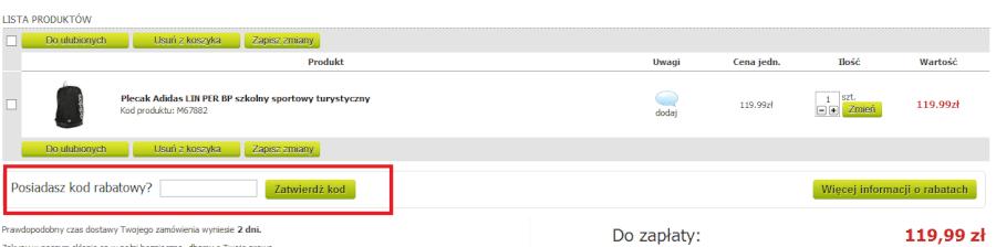 Jak wykorzystać rabat w Marionex.pl?