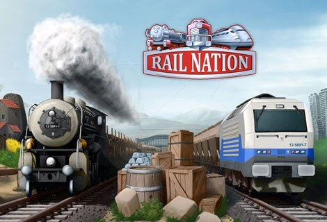 Rail Nation – logo i pociągi