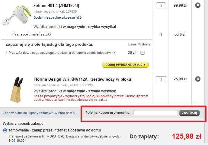 Zakupy w Rtv Euro Agd z kodem rabatowym