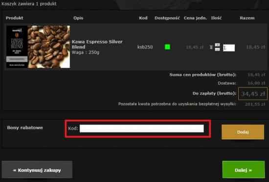 Kody rabatowe do sklepu Tommycafe.pl