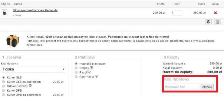 Kod rabatowy do sklepu torebki.pl
