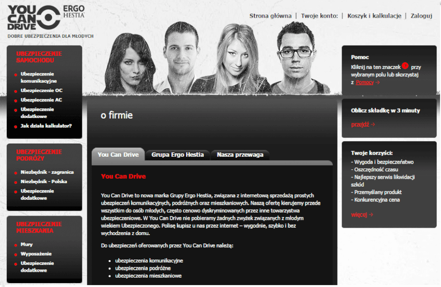 Youcndrive.pl – strona internetowa firmy