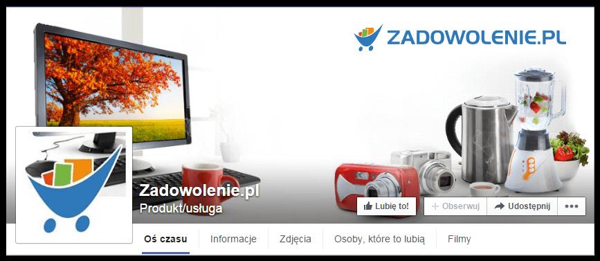 Konto na facebooku sklepu zadowolenie.pl