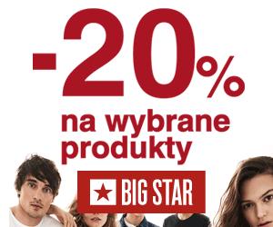 20% rabatu na wybrane produkty!